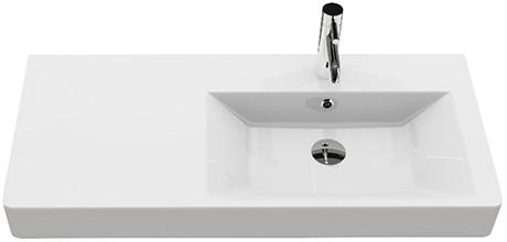 Badm bel 100cm inkl keramik waschtisch und unterschrank waschbecken aqua bagno ebay - Badmobel 100 cm ...