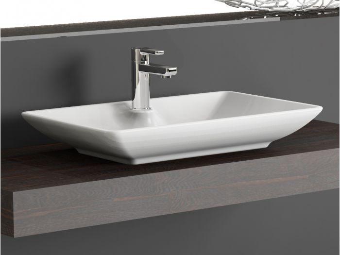 aqua bagno keramik waschschale aufsatzwaschtisch 65 cm. Black Bedroom Furniture Sets. Home Design Ideas