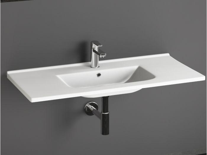 keramik waschtisch mit 100 cm interesting cornat keramik. Black Bedroom Furniture Sets. Home Design Ideas