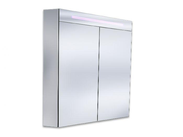 bad spiegelschrank 60cm inkl led beleuchtung 2 t ren inkl dopp