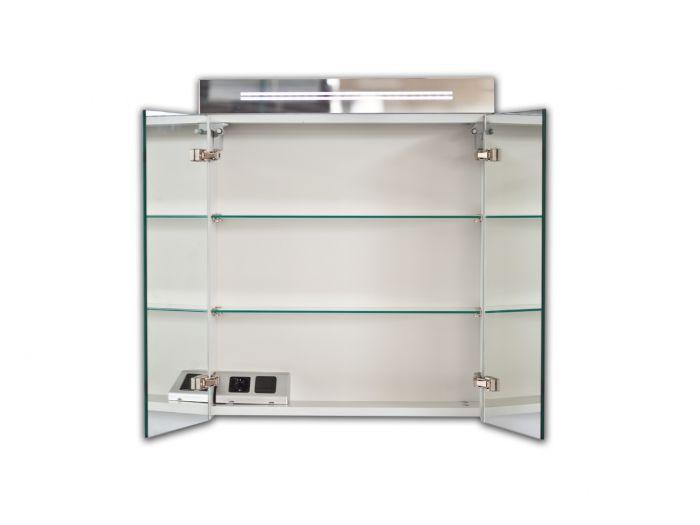 bad spiegelschrank 60cm inkl led beleuchtung 2 t ren inkl dopp. Black Bedroom Furniture Sets. Home Design Ideas