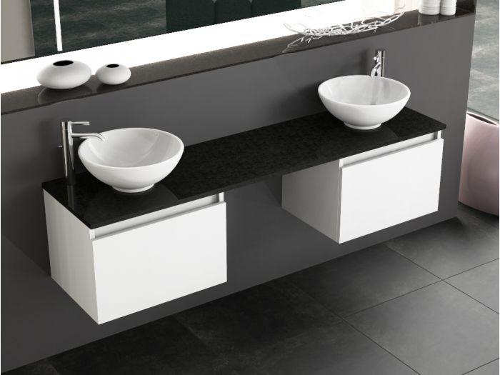 badm bel doppelwaschtisch inkl keramik aufsatz becken und. Black Bedroom Furniture Sets. Home Design Ideas