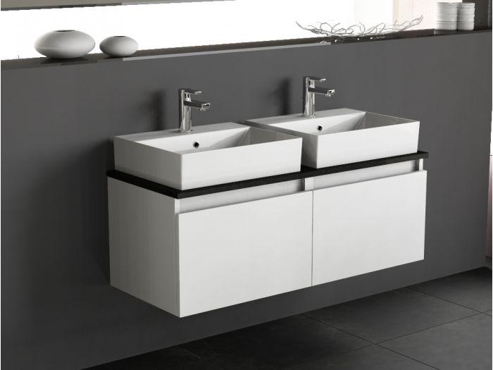 badm bel doppelwaschtisch inkl keramik becken und granit. Black Bedroom Furniture Sets. Home Design Ideas