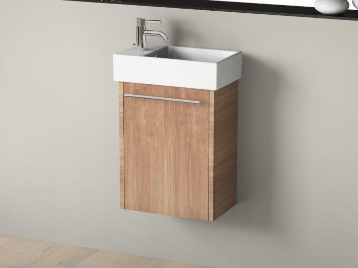 Badmbel   Set inkl. Spiegel mit Ablage und Keramik Waschbecken 45x26c