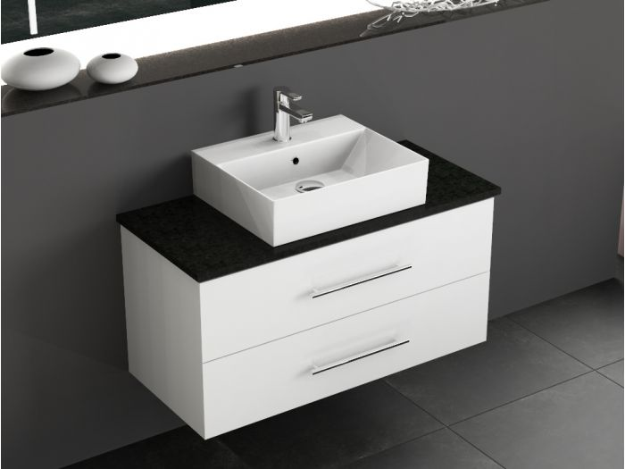badm bel inkl keramik aufsatzbecken inkl granit. Black Bedroom Furniture Sets. Home Design Ideas