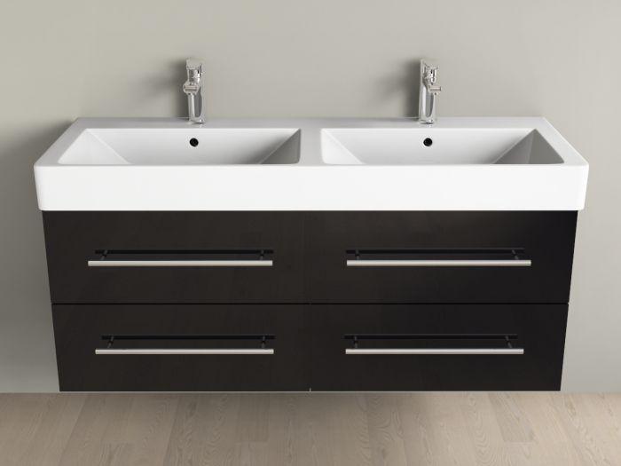 badm bel inkl keramik waschtisch und unterschrank 120cm 4 ausz u. Black Bedroom Furniture Sets. Home Design Ideas