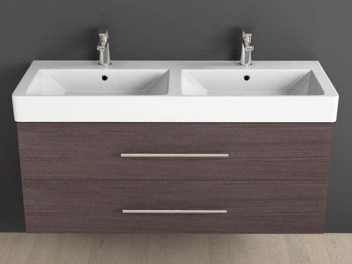badm bel inkl keramik waschtisch und unterschrank 120cm. Black Bedroom Furniture Sets. Home Design Ideas