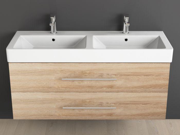 badm bel inkl keramik waschtisch und unterschrank 120cm doppelwa. Black Bedroom Furniture Sets. Home Design Ideas