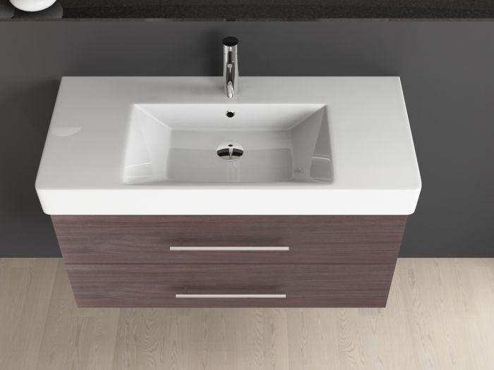 badm bel inkl keramik waschtisch quadra soft zentriert 100x45cm. Black Bedroom Furniture Sets. Home Design Ideas