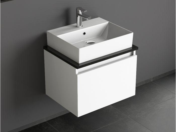badm bel mit granit waschtischplatte und keramikbecken eckig wei aacu. Black Bedroom Furniture Sets. Home Design Ideas