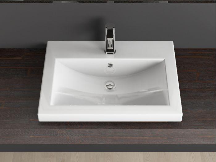 design keramik einbau waschtisch waschbecken 60cm weiss. Black Bedroom Furniture Sets. Home Design Ideas