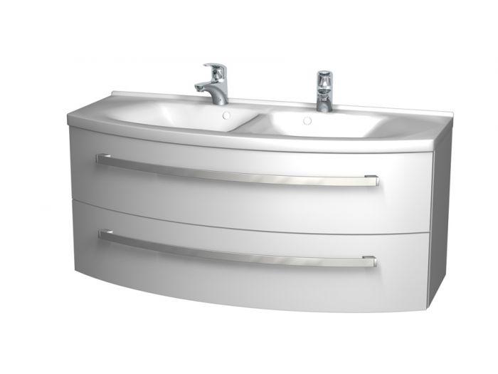 keramik doppel waschtisch inkl unterschrank badm bel 120x57cm. Black Bedroom Furniture Sets. Home Design Ideas