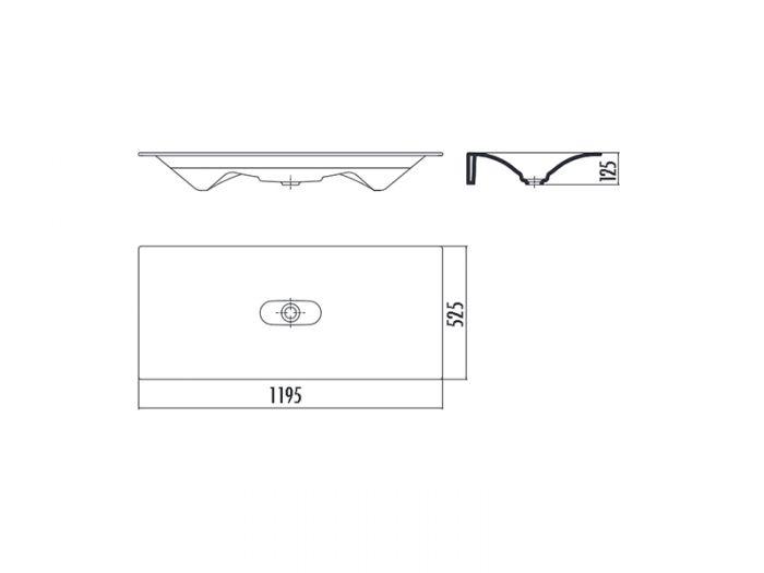Ebene Dusche Ablauf : Aqua Bagno DROP Design Keramik Waschtisch 120cm ...