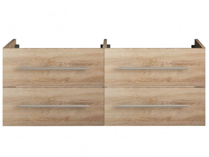 waschtischunterschrank 120cm eiche gold 4 metallausz ge. Black Bedroom Furniture Sets. Home Design Ideas
