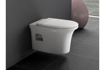 Aqua Bagno Design Hänge-WC Set  DROP Taharat- WC inkl. Sitz