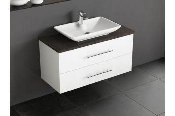 badm bel mit granit waschtischplatte und keramikbecken. Black Bedroom Furniture Sets. Home Design Ideas