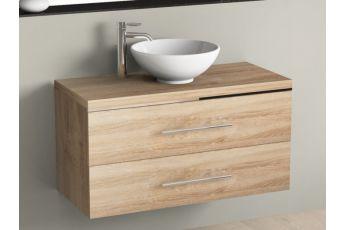 Aqua bagno design keramik waschtisch 90 cm for Badmobel keramik