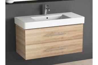 badm bel set inkl spiegel mit ablage und keramik waschbecken 4. Black Bedroom Furniture Sets. Home Design Ideas