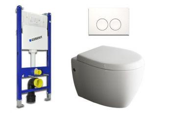 ssww design h nge wc sp lrandlos toilette inkl wc sitz mit. Black Bedroom Furniture Sets. Home Design Ideas