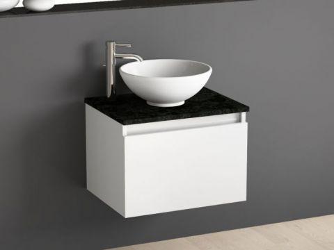 set inkl spiegel mit ablage und keramik waschbecken 45x26cm bosfor. Black Bedroom Furniture Sets. Home Design Ideas