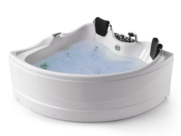 Whirlpool 165cm Eck-Badewanne HAMBURGXL.LED ComfortLED