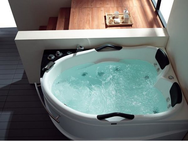 Whirlpool 175cm Eck-Badewanne BARCELONA.LED ComfortLED